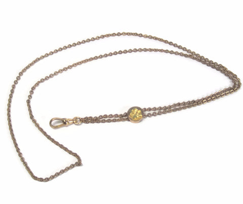 Antique Victorian 12K Gold Filled Ladies Profile Chain Necklace - Bejeweled Emporium - 1