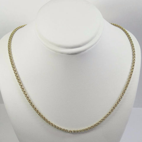Custom Vintage 18K Yellow Gold 17 Inch 2.5mm Chain Necklace - Bejeweled Emporium - 1