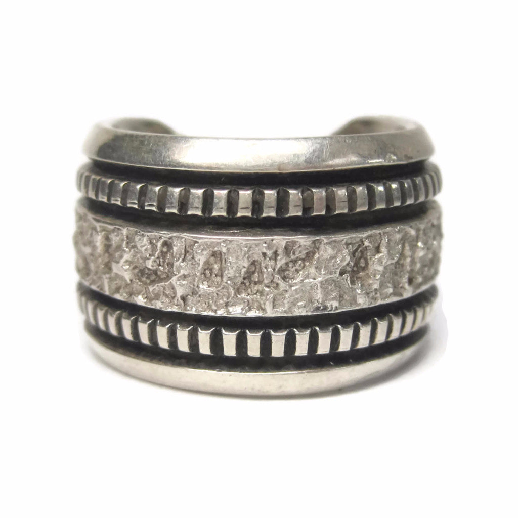 Mens Vintage Navajo Sterling Band Ring Philbert Begay Size 9 - Bejeweled Emporium - 1