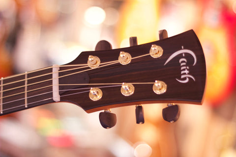 Faith Acoustic Guitar Headstock