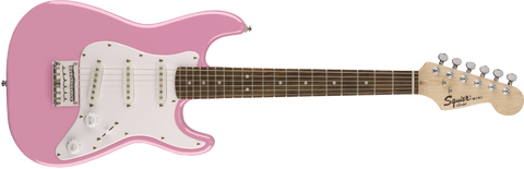 Fender Squier Mini Strat Electric Guitar Rosewood Fingerboard - Pink