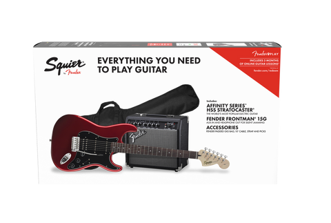Fender Squier Affinity Stratocaster HSS Electric Guitar Starter Pack - Candy Apple Red