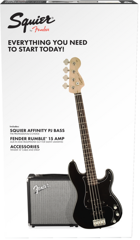Fender Squier Precision Bass PJ Starter Pack - Black