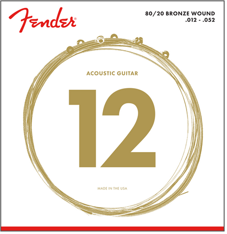 Fender 70L 80/20 Bronze Light Acoustic Strings 12-52