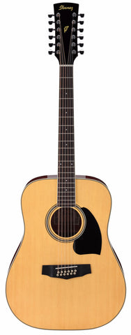 Ibanez PF1512 12 String Acoustic Guitar Natural - Worcester Guitar Centre Guitar Shop