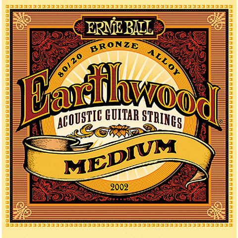 Earthwood 80/20 Bronze Medium Acoustic Guitar Strings 13-56 - Worcester Guitar Centre Guitar Shop