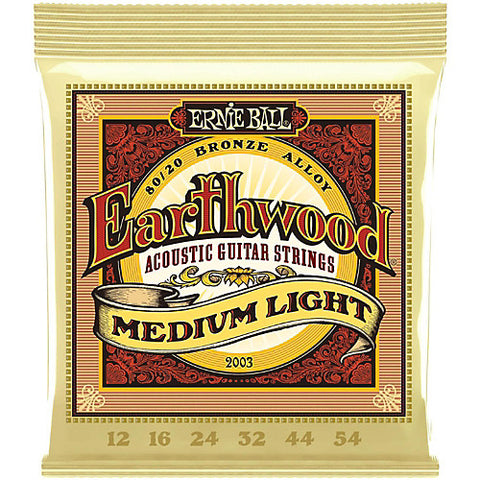 Earthwood 80/20 Bronze Medium Light Acoustic Guitar Strings 12-54 - Worcester Guitar Centre Guitar Shop