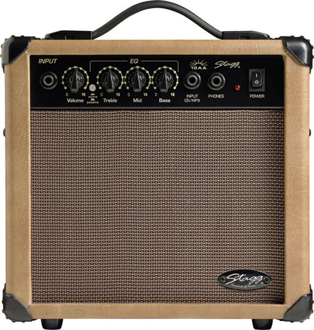 Stagg 10 AA Acoustic Guitar Amp Combo - Worcester Guitar Centre Guitar Shop