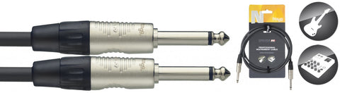 Stagg Deluxe Mono Jack to Jack Instrument Cable 3 Metre - Worcester Guitar Centre Guitar Shop