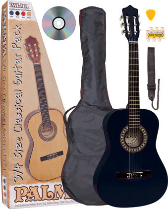 Palma 3/4 Size Acoustic Guitar Package Black - Worcester Guitar Centre Guitar Shop