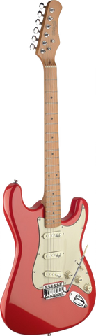 Stagg S Vintage Style Electric Guitar Fiesta Red - Worcester Guitar Centre Guitar Shop