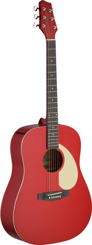 Stagg Dreadnought Acoustic Guitar Red - Worcester Guitar Centre Guitar Shop