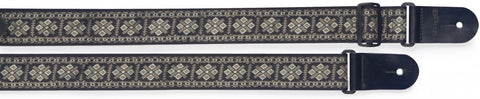 Stagg Woven Nylon Guitar Strap Cross Pattern Grey - Worcester Guitar Centre Guitar Shop