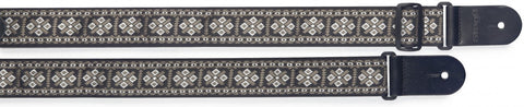 Stagg Woven Nylon Guitar Strap Cross Pattern White - Worcester Guitar Centre Guitar Shop