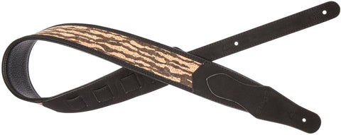 Stagg Black Padded Faux Suede/Leather Guitar Strap - Tiger
