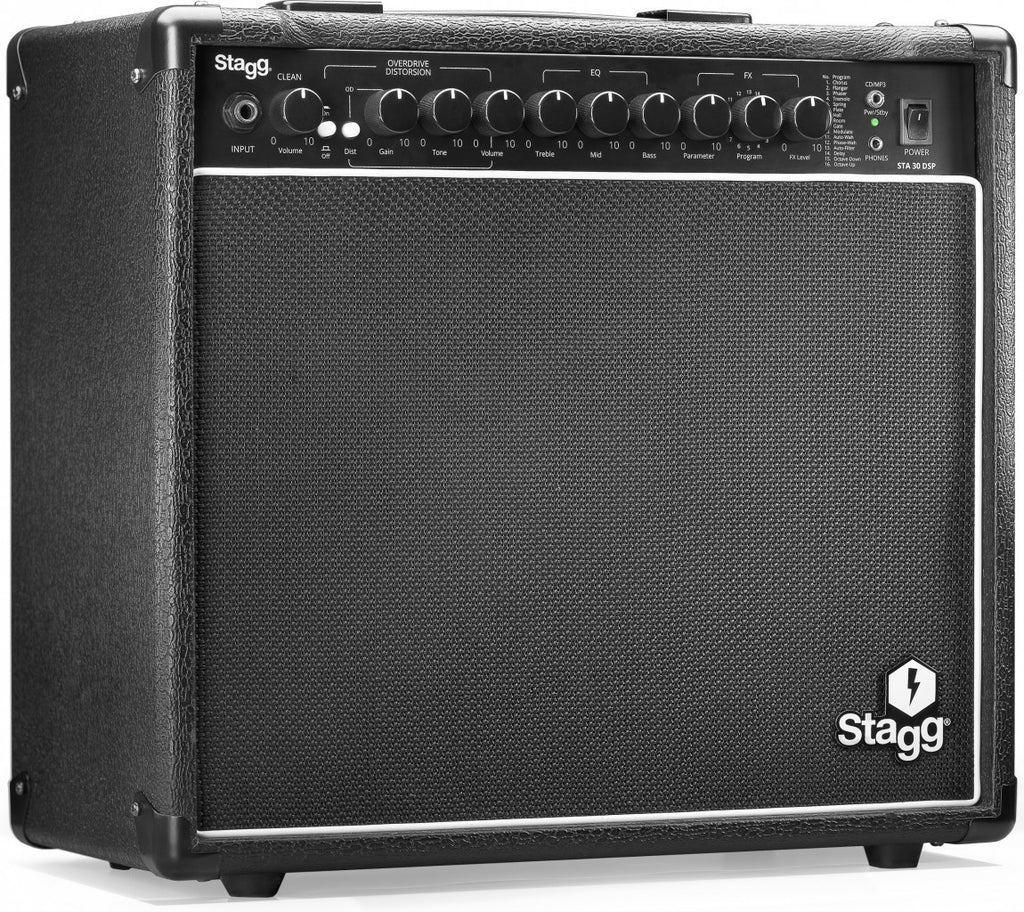 stagg sta30 dsp electric guitar amp combo worcester guitar centre. Black Bedroom Furniture Sets. Home Design Ideas