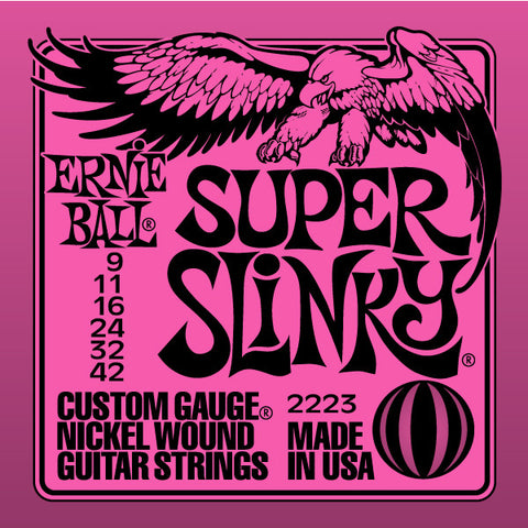 Ernie Ball Super Slinky 2223 Nickel Guitar Strings 9-42 - Worcester Guitar Centre Guitar Shop