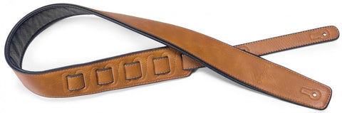 Stagg Leather Padded Guitar Strap Honey - Worcester Guitar Centre Guitar Shop