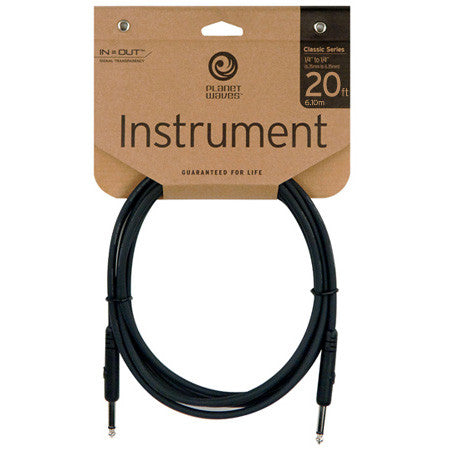 Planet Waves Classic Series 20ft Instrument Cable PW-CGT-20 - Worcester Guitar Centre Guitar Shop