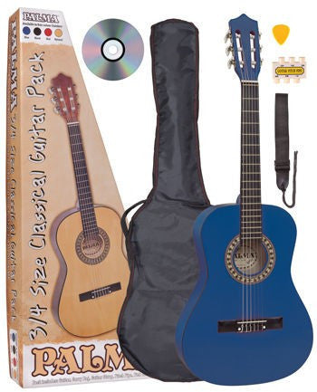 Palma 3/4 Size Acoustic Guitar Package Blue - Worcester Guitar Centre Guitar Shop