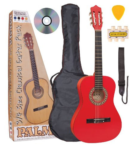 Palma 3/4 Size Acoustic Guitar Package Red - Worcester Guitar Centre Guitar Shop