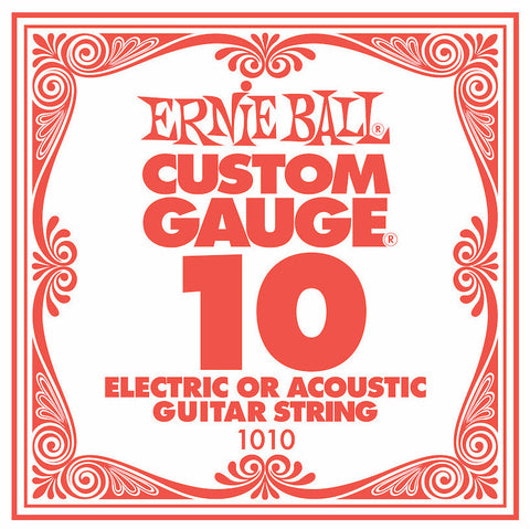 Ernie Ball Plain Steel Single String .010 - Worcester Guitar Centre Guitar Shop