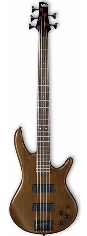 Ibanez GSR205B-WNF 5 String Bass Guitar Walnut Flat - Worcester Guitar Centre Guitar Shop - 1