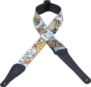 "Levys MPD2-009 2"" Guitar Strap Fish - Worcester Guitar Centre Guitar Shop"