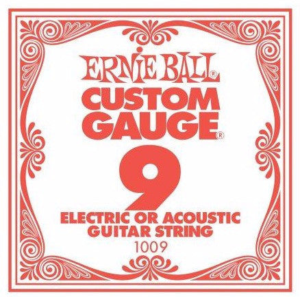 Ernie Ball Plain Steel Single String .009 - Worcester Guitar Centre Guitar Shop