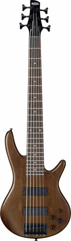 Ibanez GSR206B-WNF GIO 6 String Bass Guitar Walnut Flat - Worcester Guitar Centre Guitar Shop