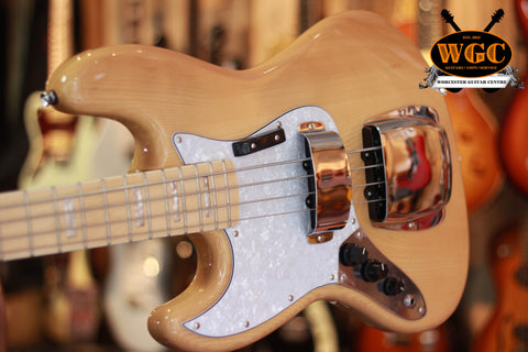 Revelation RBJ 67 Deluxe Left Hand Bass Guitar Natural - Worcester Guitar Centre Guitar Shop - 1