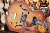Godin 5TH Avenue CW Kingpin II Cognac Burst Archtop Guitar EX-DEMO - Worcester Guitar Centre Guitar Shop - 1