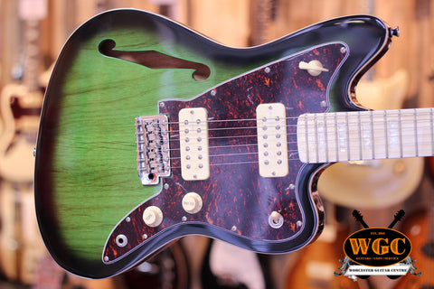 Revelation RJT60 TL Thinline Electric Guitar Emerald Greenburst - Worcester Guitar Centre Guitar Shop - 1