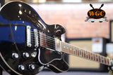 Gibson ES339 Ebony Custom Shop Pre-Used - Worcester Guitar Centre Guitar Shop - 4