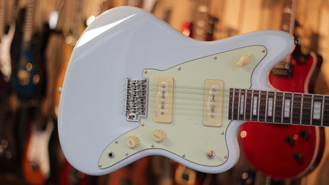 Revelation RJT-60 12 String Jazzmaster Electric Guitar Sonic Blue - Worcester Guitar Centre Guitar Shop - 1