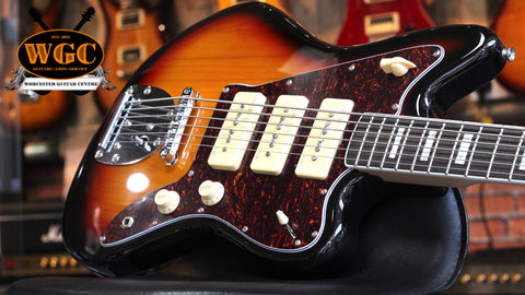 Revelation RJT-60B Jazzmaster VI 6 String Bass Guitar Sunburst - Worcester Guitar Centre Guitar Shop - 1