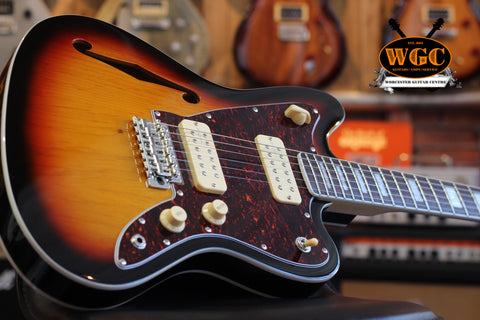 Revelation RJT-60TL Semi Hollow Thinline Jazzmaster Style Electric Guitar - Worcester Guitar Centre Guitar Shop - 1