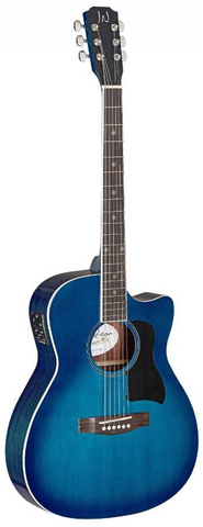 James Neligan BES-ACE-TBB Acoustic Guitar - Transparent Blue Burst