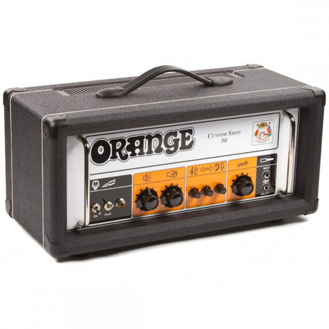 Orange Custom Shop 50 Guitar Amp Head Black - Worcester Guitar Centre Guitar Shop