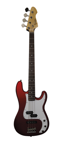 Revelation RPJ-77 Candy Apple Red P Bass Guitar - Worcester Guitar Centre Guitar Shop