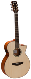 Faith Venus FV Electro Cutaway Acoustic Guitar Natural - Worcester Guitar Centre Guitar Shop - 1