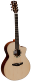 Faith HiGloss Neptune FNCEHG Electro Cutaway Acoustic Guitar Natural - Worcester Guitar Centre Guitar Shop - 1