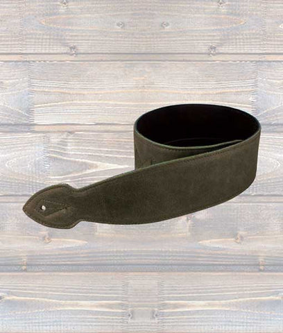 LeatherGraft 2.5″ Reversible Softy Leather Guitar Strap – Brown Leather/Black Suede