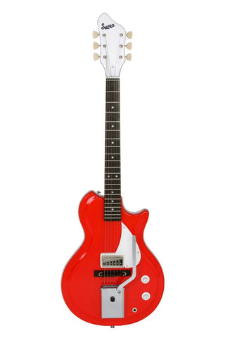 Supro Belmont Vibrato Electric Guitar - Poppy Red