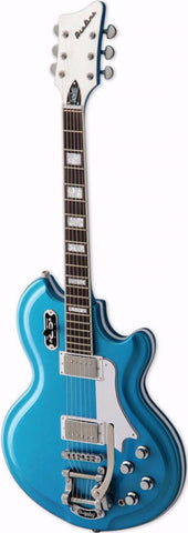 Airline 59 Coronado Electric Guitar Metallic Blue - Worcester Guitar Centre Guitar Shop