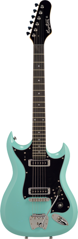 Hagstrom H-II Retroscape Electric Guitar Aged Sky Blue