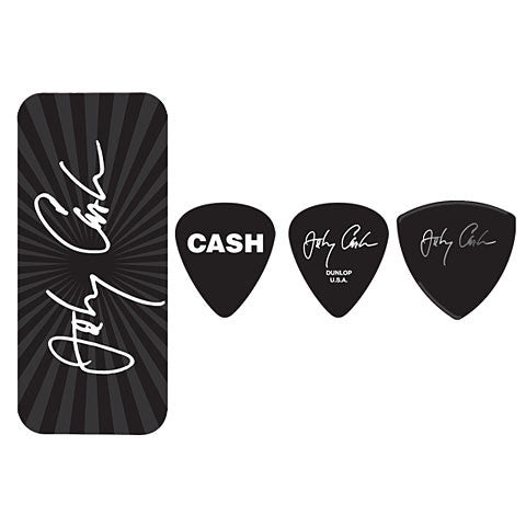 Jim Dunlop Pick Tin JD-JCPT02M Johnny Cash - Worcester Guitar Centre Guitar Shop