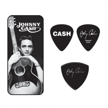 Jim Dunlop Pick Tin JD-JCPT01M Johnny Cash - Worcester Guitar Centre Guitar Shop