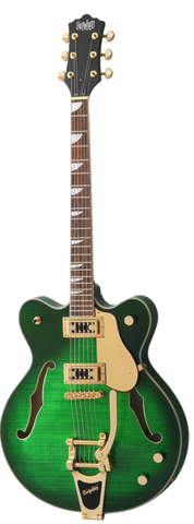 Eastwood Classic 6 DLX Limited Edition Electric Guitar Transparent Green - Worcester Guitar Centre Guitar Shop