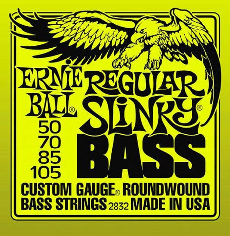 Ernie Ball Regular Slinky Bass 2832 Bass Guitar Strings 50-105 - Worcester Guitar Centre Guitar Shop